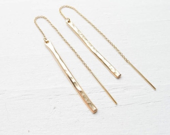 Long Earrings, Dangle Earrings, Chain Earrings, Bar Earrings, Gold Drop Earrings, Threader Earrings, Gold Earrings, Statement Earrings,