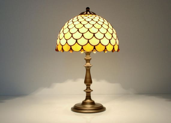 Tiffany Lamp. Bedside Lamp. Stained Glass Lamp. Stained Glass