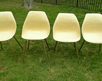 Molded plastic chair Etsy