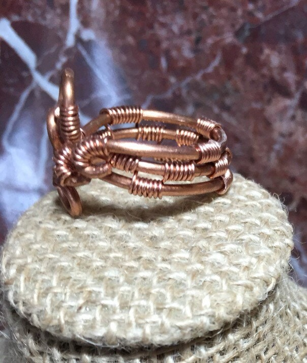 Copper spiral statement ring, handmade copper statement ring, copper ...