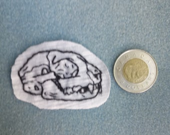 Cat Skull Patch (side)