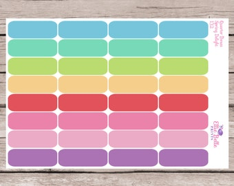 Quarter Box Stickers | Spring Delights | Planner Stickers | Happy Planner, Erin Condren, Plum Planner - 167