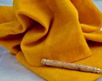 "Hand dyed 100 percent wool fabric - ""Kabocha Squash"" - beautiful wool for crafters - rug hooking - appliqué - penny rugs and more"