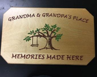 Grandma & Grandpa's Place Sign