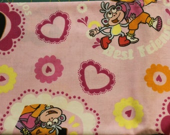 Dora and Boots   100% cotton fabric