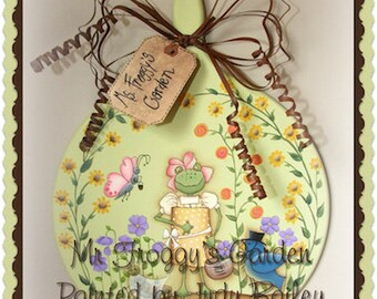 Ms. Froggies Garden - Painted by Judy Bailey,  Painting With Friends E Pattern