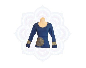 Organic clothing - Organic mandala top Handmade to order with organic cotton and hemp jersey - Mandala print