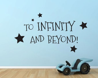To Infinity and Beyond Buzz Lightyear Toy Story quote wall decal