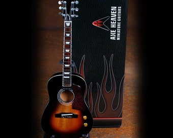 Classic Vintage Sunburst Finish Acoustic Miniature Guitar Replica Collectible