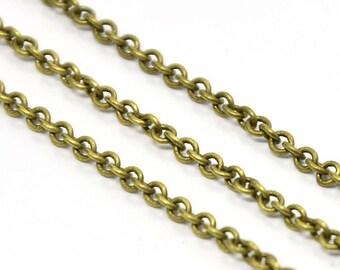 Messingkette geschweißt, Farbe Bronze, mesh, 2 x 3 mm Armband, Halskette, Kette, Bronze, Antik Messing Ohrringe, gold Ohrringe