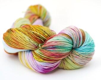 Hand dyed cashmere merino worsted yarn - 100g