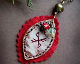 Winter Blessing Necklace - Rustic, Runic Talisman