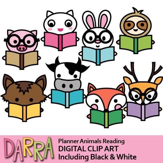 clipart commercial use animals reading book clip art pig rabbit rh etsystudio com commercial clipart sites commercial clipart sites