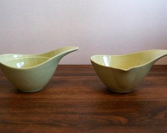 Gorgeous 1950's Monterey Pottery sugar bowl and creamer set