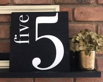 Family Number Sign | Gallery Wall Sign | Custom Sign