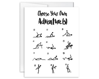 Choose Your Own Adventures - Inappropriate Greeting Card - SM1622