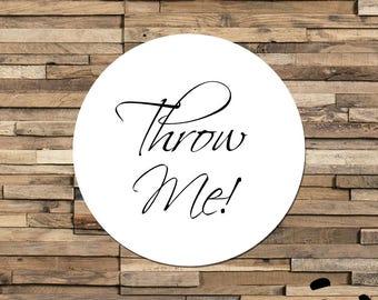 Throw Me Sticker, Confetti Wedding Label, Wedding Confetti Stickers, Customized Envelope Seals, Personalised Wedding Invite Labels