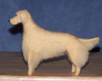 Golden Retriever needle felted dog example custom made to order
