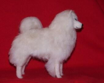 Samoyed needle felted dog example custom made to order