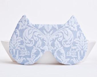 Sleep Mask Cat Blue Mask Bridesmaid Gift Pajama Party Favor Bohemian Accessories Cats Mask Eye Pillow Kids Eye mask