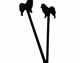 Custom Dog Silhouette Swizzle Stick,Gift Ideas,Personalized Gift,Drink Stirrer,Wedding Gift,Dog,Gift Ideas,Stir Stick,Gift idea, 50 pack