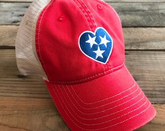 Comfort Colors Red Tristar Tennessee Cap