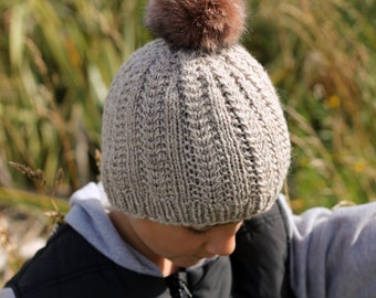 "Knitting Pattern pdf ""Griffin Beanie"" Easy Cable Beanie, Toddler, Adult, Child PATTERN ONLY"