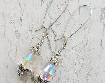 Crystal Earrings Dangle Drop Glass Earrings
