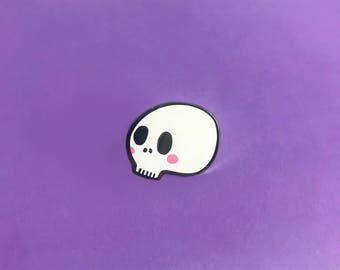 Cute Skull Enamel Lapel Pin | Cute kawaii pin hat badge