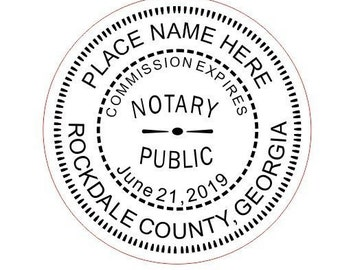 Custom Notary Georgia Stamp Style-5 Traxx 9045 Custom Notary Stamp, Notary Stamp, Office Notary Stamp, Notary Public, Notary Rubber Stamp