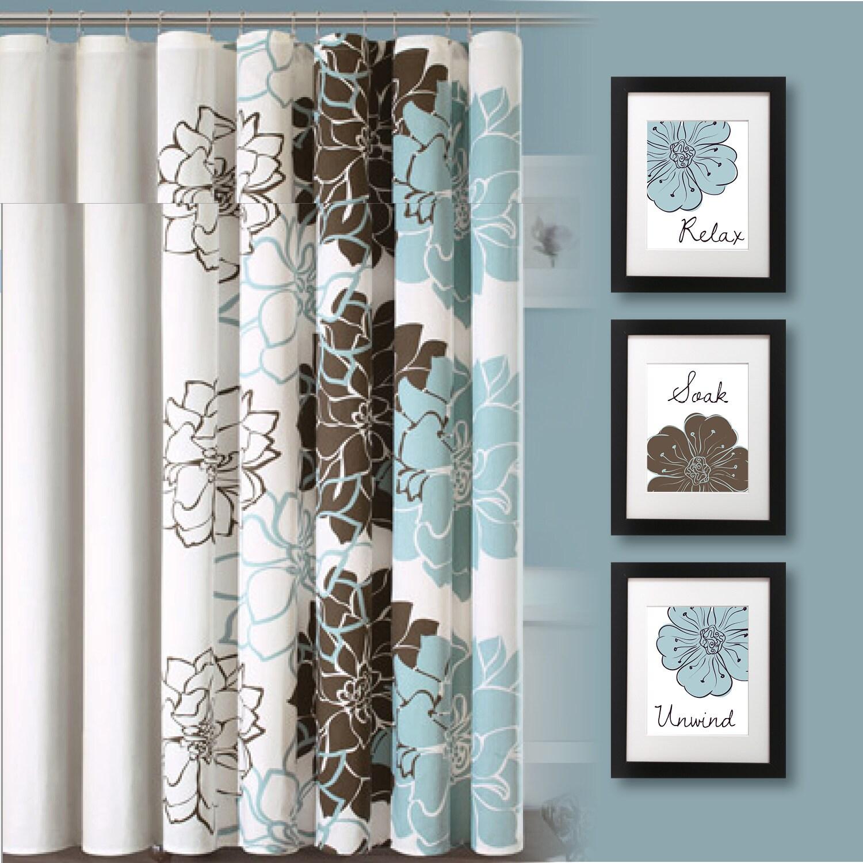 Teal Wall Decor For Bathroom