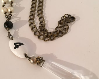 Room No. 4 Necklace, Vintage, Assemblage Jewelry, Upcycled, Steampunk, Boho