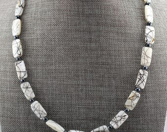 White and Black Shell Necklace