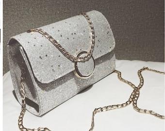 Chain Strap Glitter Bag