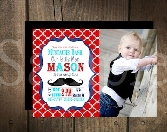 Custom Mustache Bash Invitation