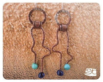 Shaped and Forged Double Head Pin Earrings DIY  PDF Tutorial
