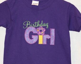 Purple Birthday Girl Shirt