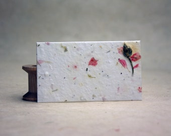 Flower seed paper etsy handmade seed paper with pink larkspur petals and wild flower seeds 32 cards 24s 35 x 2 panels mightylinksfo