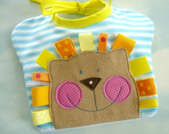 Happy Face Baby Bibs Sewing PDF e Pattern - Lion, Sun, Bunny and Tiger
