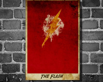 Flash justice league movie poster minimalist poster comic book print comic book art