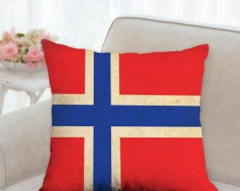 Norway Flag Pillow
