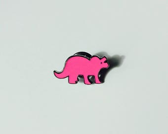 Sale | Dinosaur | Triceratops | Cute | Pin | Badge | Retro | Hipster | Upcycle | Accessory | Modify