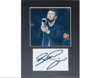 Sam Smith printed signed autograph 8x6 inch mounted photo print display gift