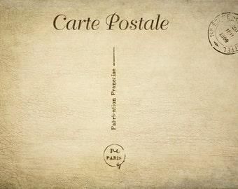 Digital download vintage look postcard back you get two files