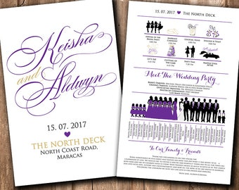 Silhouette Program Wedding Program Timeline Ceremony Program Fan Silhouette Program Fan Silhouette Fan Program Wedding Fan Program Printable