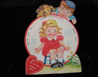 Vintage 1930's Mechanical Valentine