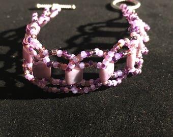 Purple tile bracelet