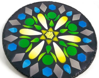 Polymer Clay Mandala Wall Plaque Home Dekor