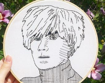 Andy Warhol Handmade Embroidery Wall Art