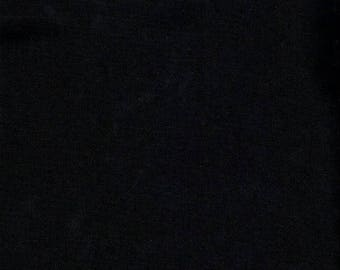 Plain black, 100% cotton fabric